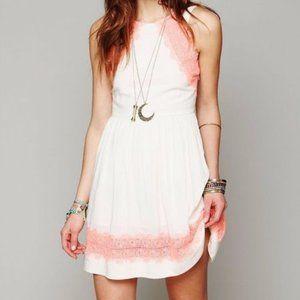 Free People Georgia Sleeveless Lace Mini Dress